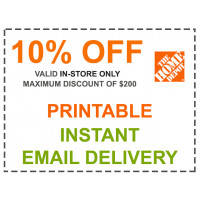 Home Depot Coupon - 10% OFF In Store Only