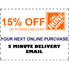 Home Depot Coupon - 15% OFF Your Online Order